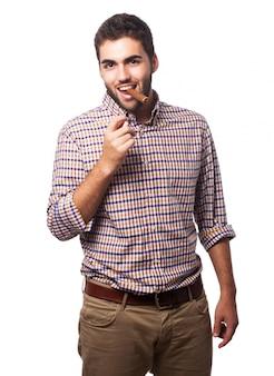 L'uomo con un sigaro in bocca