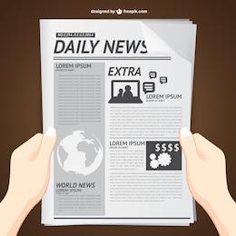 La lettura di notizie quotidiane vettore