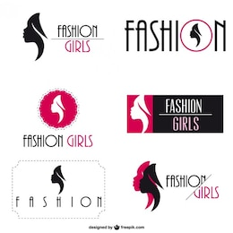 La moda logo set identità visiva