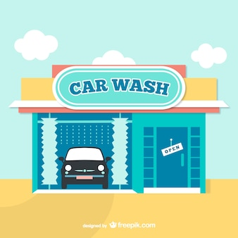 Lavaggio auto cartoon vector