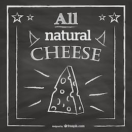Lavagna disegno menù del ristorante formaggio