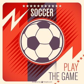 Libero pallone da calcio vettore