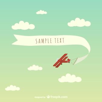 Libero striscione aereo illustrazione arte