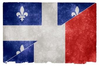 Lingua francese grunge, bandiera,