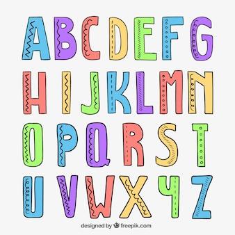Mano alfabeto disegnato