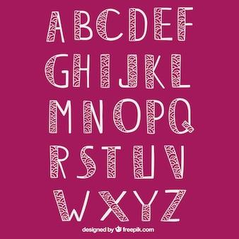 Mano tipografia disegnato in stile ornamentale