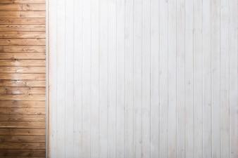 Marrone e legno bianco