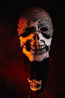 Maschera nello straccio di scheletro