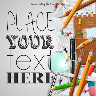 Materiale scolastico template