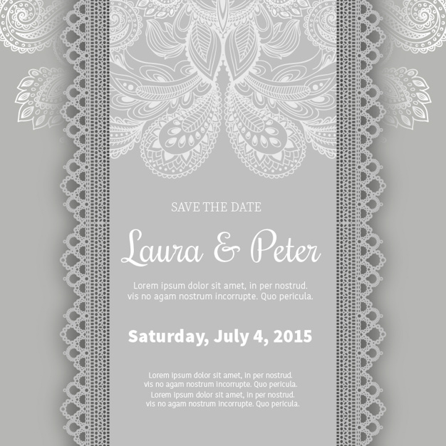 Matrimonio ornamentale invitation template