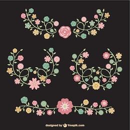 Mazzi di fiori vettore libero