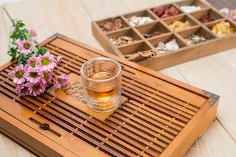 Medicina di erbe cinese in scatola