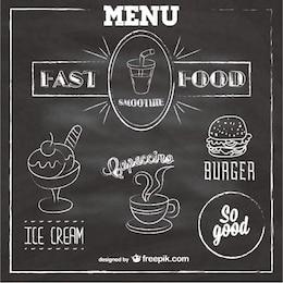 Menu lavagna fast food