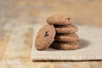 Messa a fuoco selettiva biscotto delizioso rustico