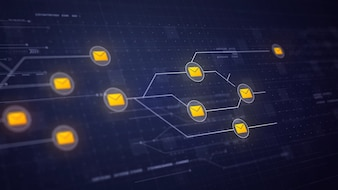 Messaggi di posta elettronica Tecnologia di connessione del circuito di rete