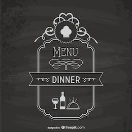 Modello di scheda del menu