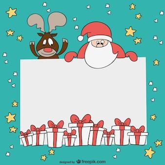 Modello di scheda di Natale