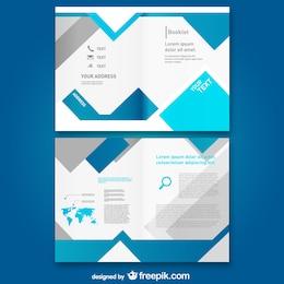 Modello libero mock-up brochure