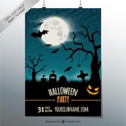 Modificabile modello di partito poster per Halloween