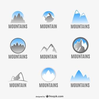 Montagna logo set