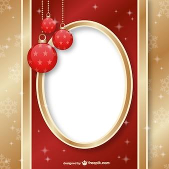 Natale cornice ornamentale