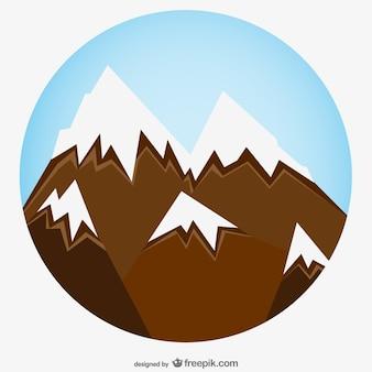 Nevoso zoom montagna arte