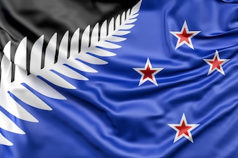 Nuova bandiera di Fern Fern Fernando di Nuova Zelanda