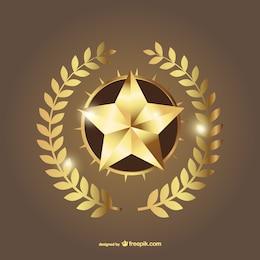 Oro stella vettoriale
