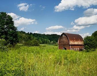 Paese fattoria marrone