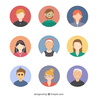 Persone pacchetto avatar