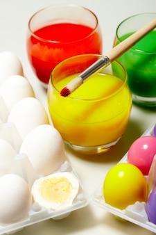Primavera pennello di colore festa multicolore