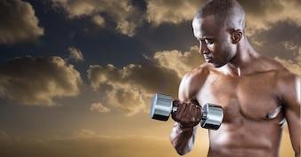 Protezione atletico stile di vita nero sole