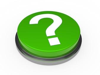 Pulsante verde con un punto interrogativo