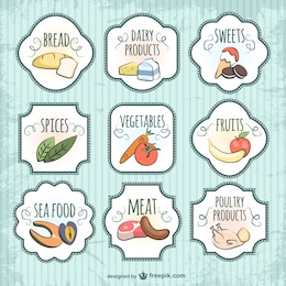 Qualità del badge cibo vettore
