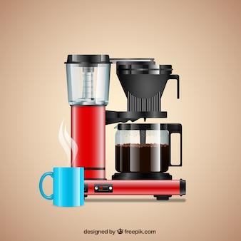 Realistico macchina per il caffè