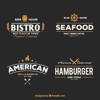 Retro badge ristorante