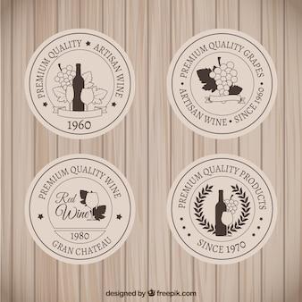 Retro badge vino