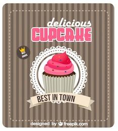 Retro Cupcake poster design migliore scelta