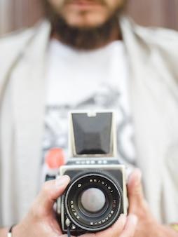 Retrò tecnologia hobby la fotografia adolescente