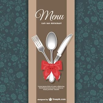 Ristorante menu disegno floreale