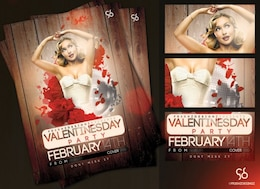 San Valentino bella volantino festa in discoteca