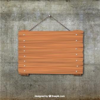 Scheda di legno appeso