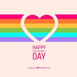 Scheda di San Valentino cuore arcobaleno