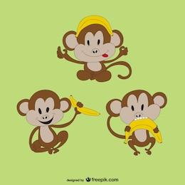 Scimmia con la banana