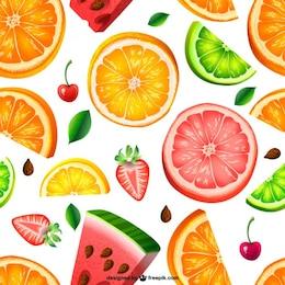 Seamless pattern di frutta