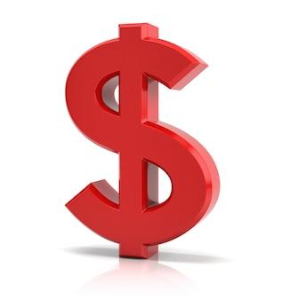 Segno del dollaro rosso
