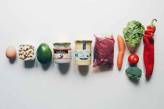 Selezione di cibo sano