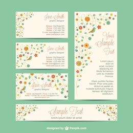 Set di corporate identity design di fiori
