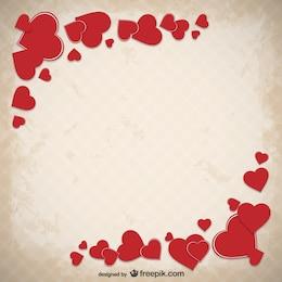 Sfondo di Grunge San Valentino