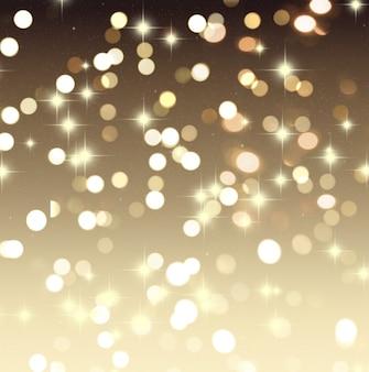 Sfondo di Natale con luci bokeh